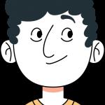 Ilustración de una hombre sonriente